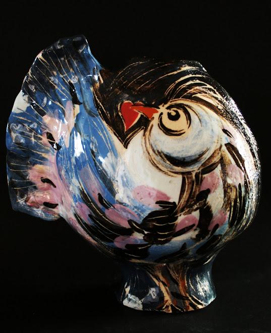 Vase au oiseaux