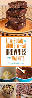 Low-Sugar and Whole Wheat Brownies [KalynsKitchen.com]