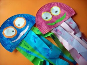 Giggleberry creations paper plate playtime palooza for Sea life arts and crafts