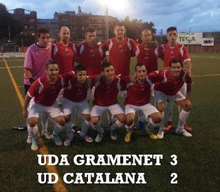 LA GRAMA SE IMPONE A LA UD CATALANA (3-2).