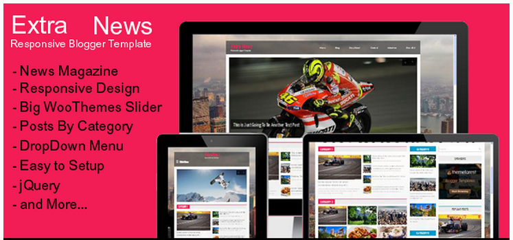Extra News Blogger Template