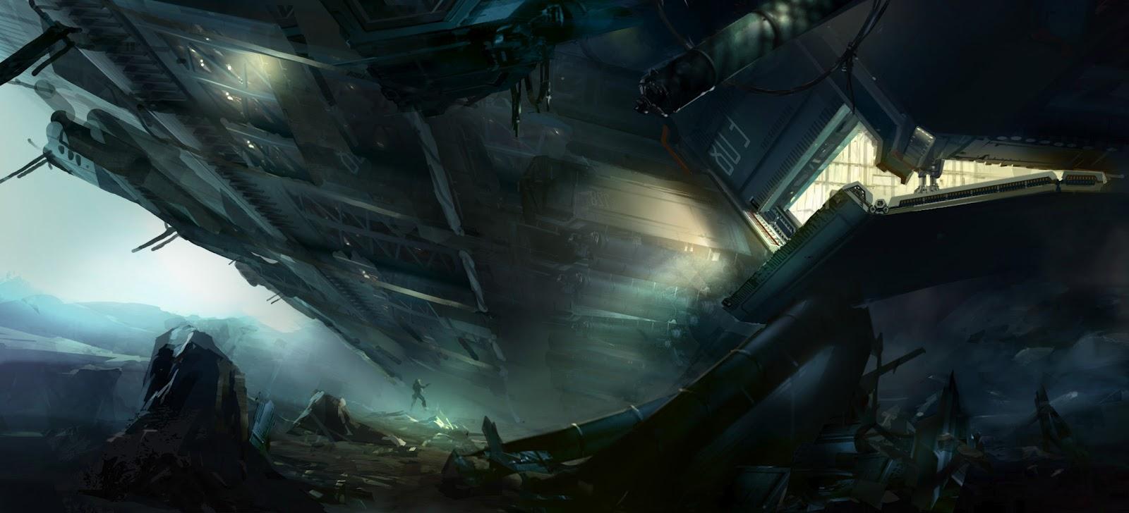 扉の大きい宇宙船