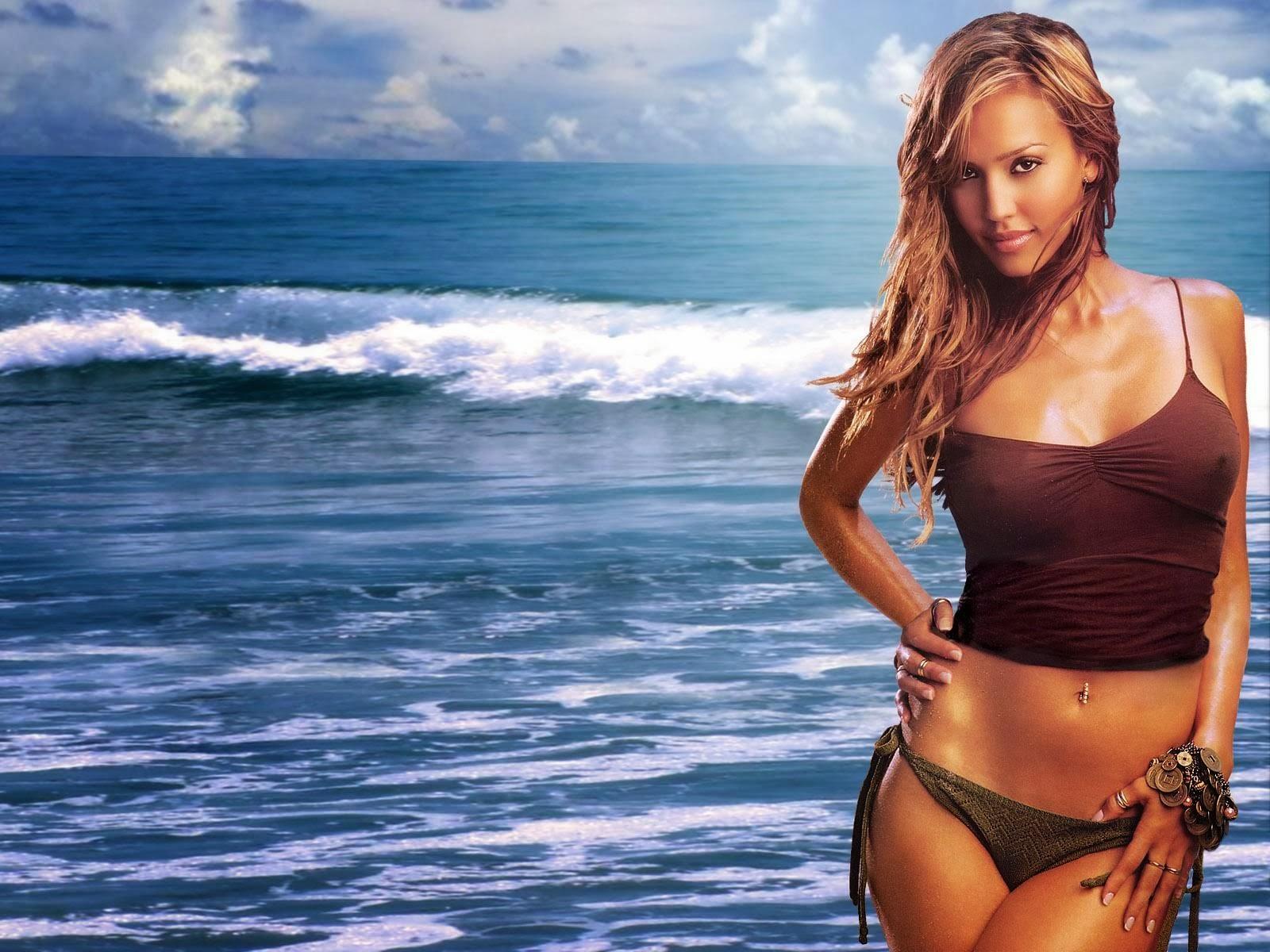 BD ONLINE: Jessica Alba Hollywood Hot Actress in Bikini