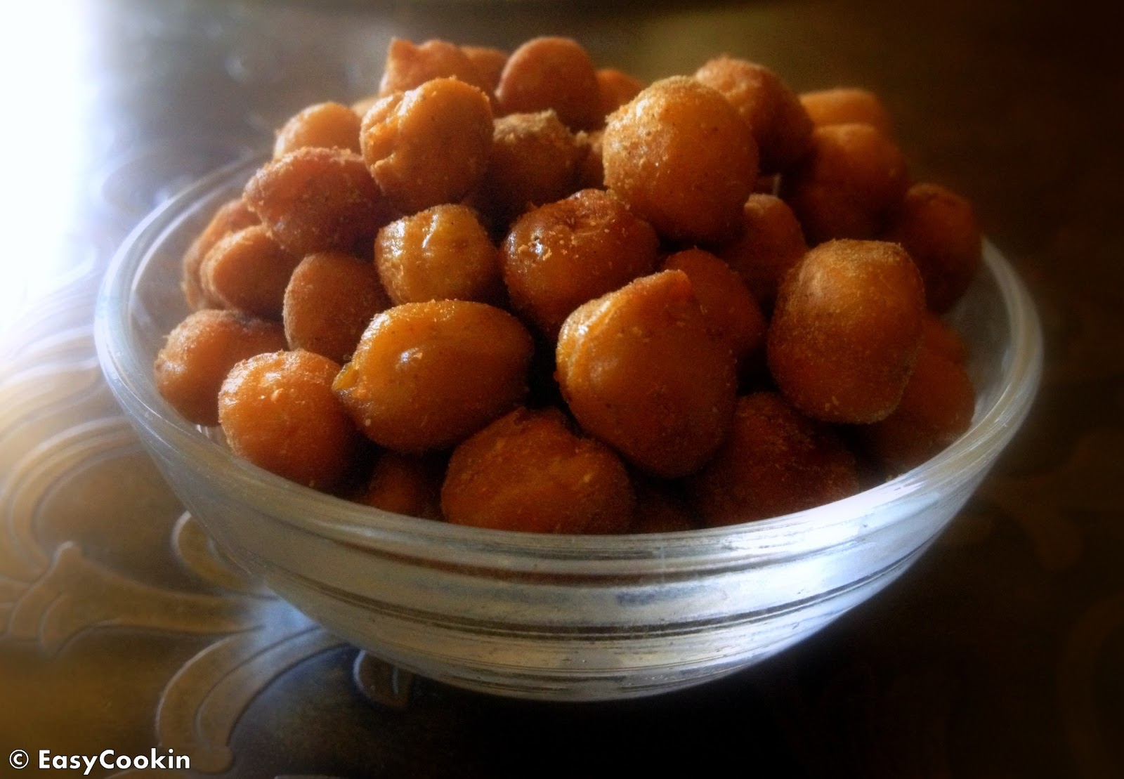 EasycookinwithMolly: Spicy Oven Roasted Chickpeas Snack - High Protein