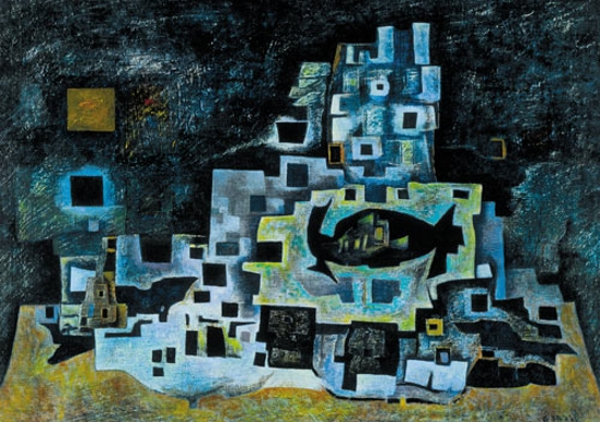 Pintores famosos mexicanos: Gunther Gerzso. Sus mejores pinturas de arte abstracto.