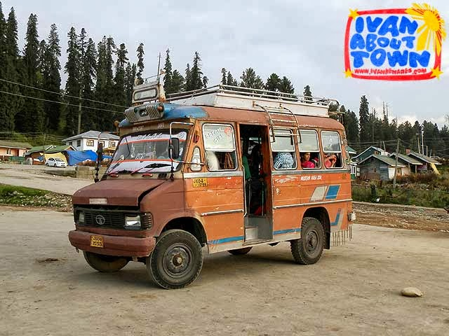 Public transportation in Gulmarg, Kashmir, India