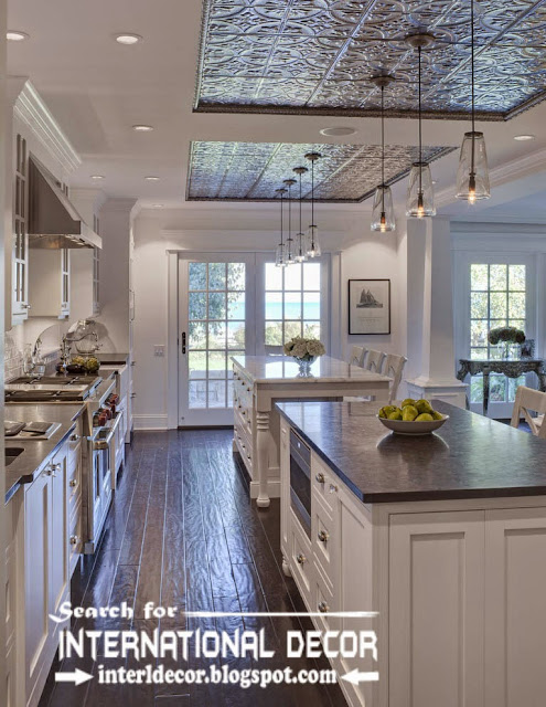 modern kitchen ceiling designs ideas lights, drop ceiling for kitchen