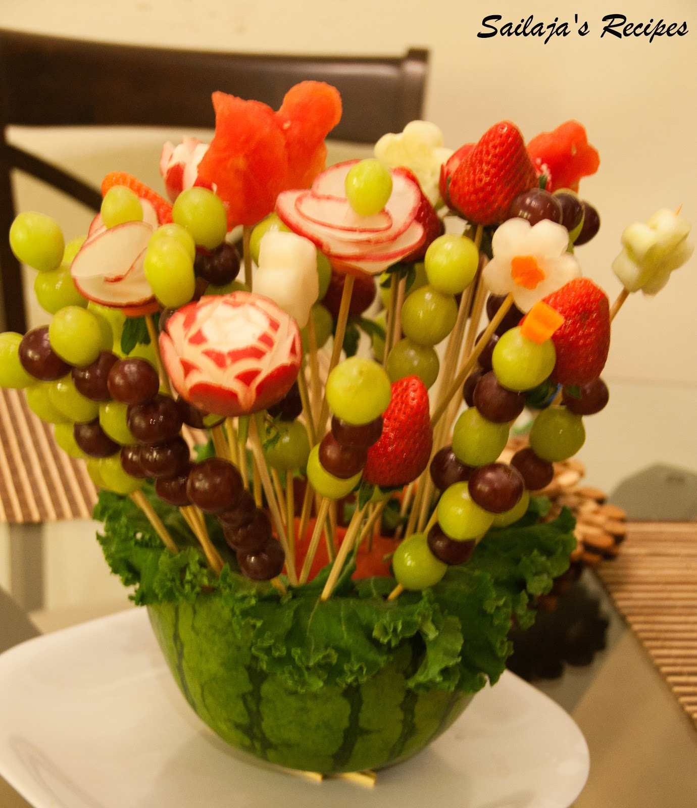 Sailaja 39 S Recipes Diy Fruit Bouquet Edible Arrangements
