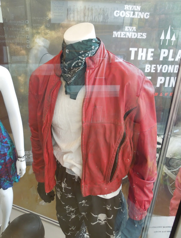 Ryan Gosling red leather biker jacket Place Beyond Pines