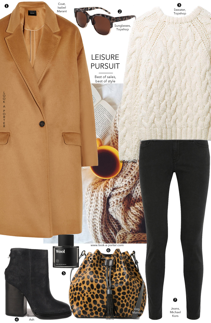 Cosy casual way to style camel coat, skinny jeans & chunky sweater via www.look-a-porter.com style & fashion blog