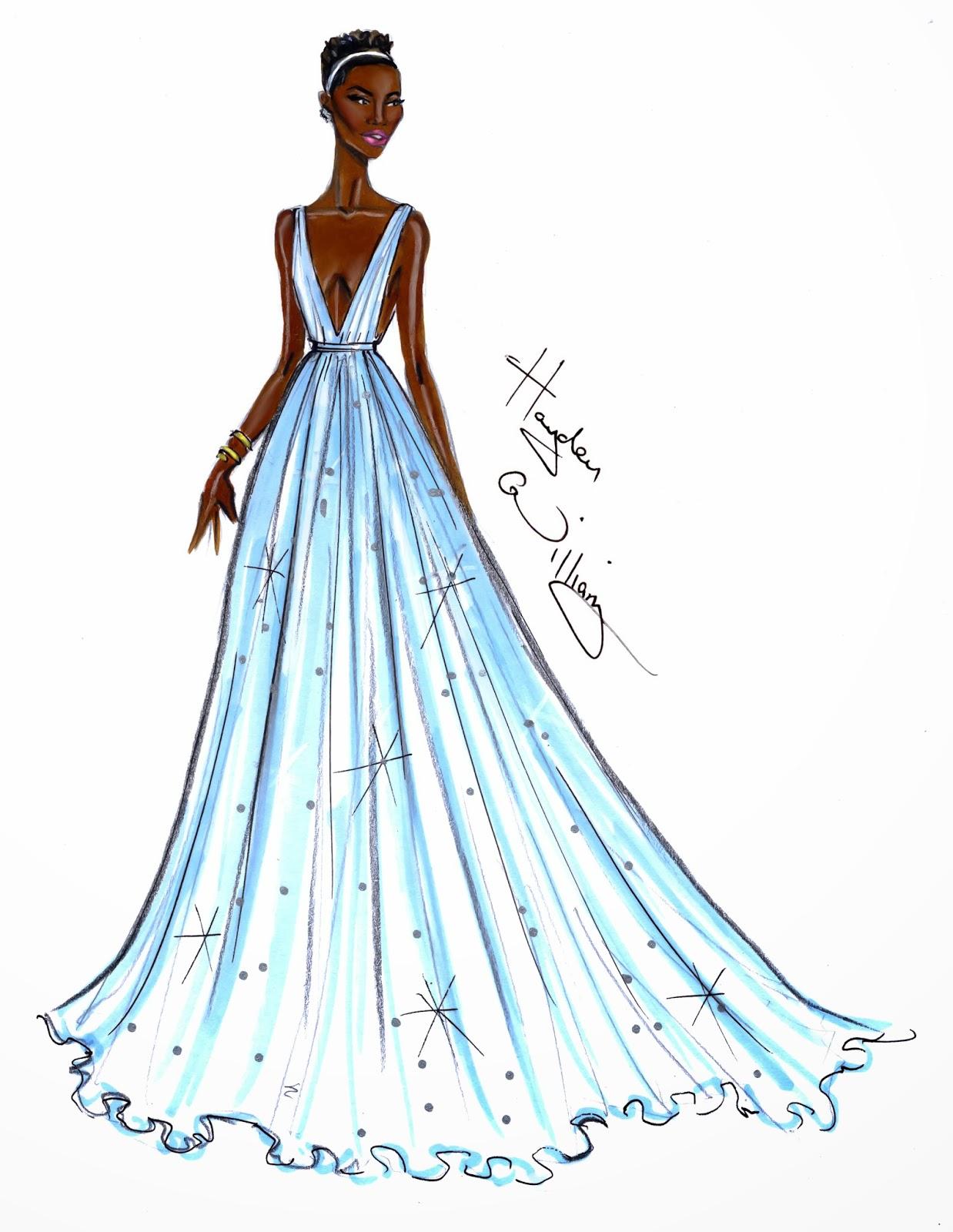 hayden williams fashion illustrations  oscars 2014