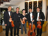 String Quartet with band manager Jason Geh