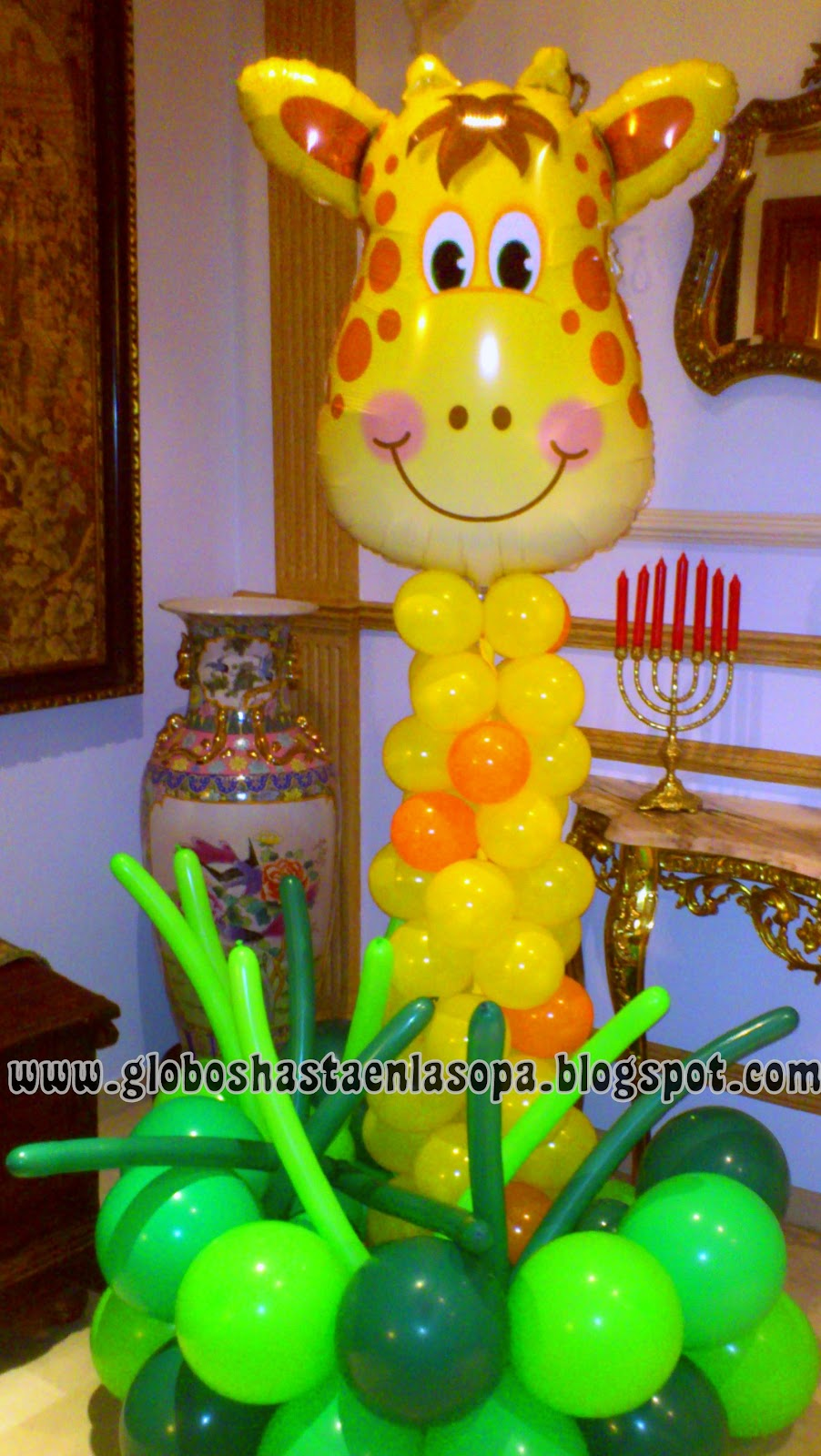 Decoraciones para fiestas infantiles con promotora de for Decoracion de globos