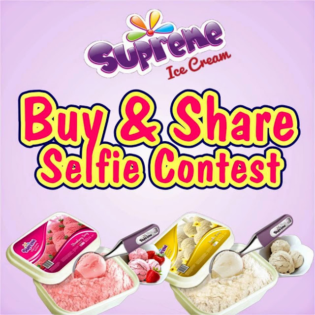 Supreme Icecream Buy & Share selfie Contest. WIN AMAZING PRIZES