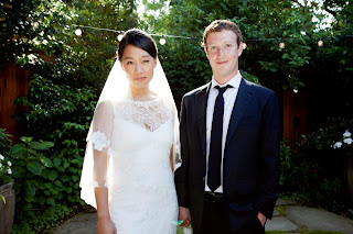 Priscilla Chan and mark in bridal dress