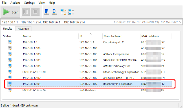 how to find ip address of raspberry pi