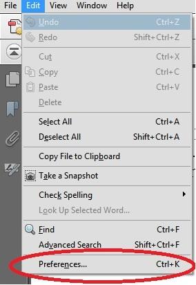 Adobe Preferences