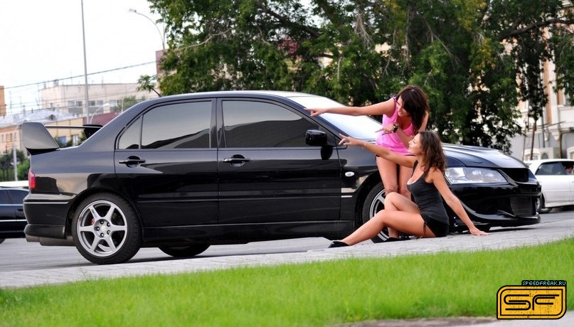japońskie samochody, dziewczyny, zdjęcia, girls, cars, mitsubishi lancer evolution
