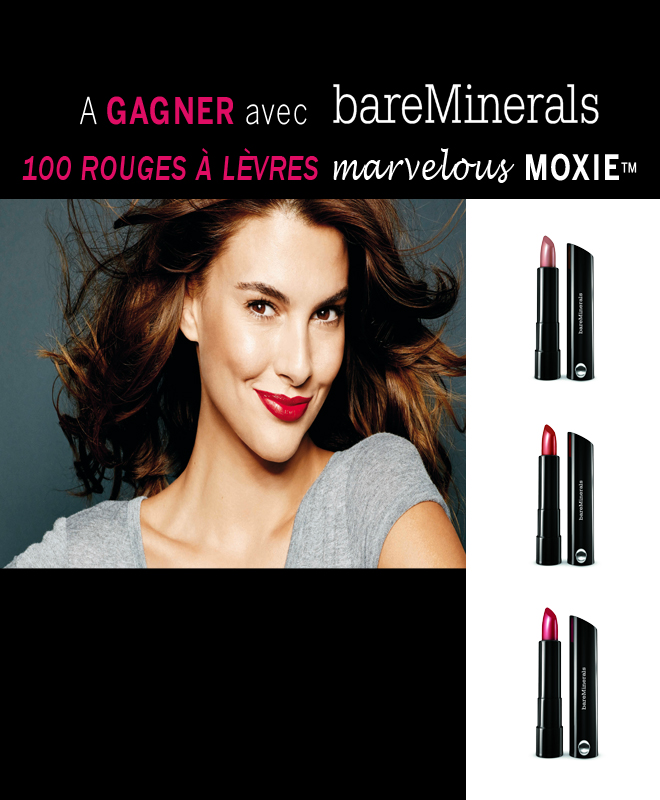 "25 lots de 4 rouges à lèvres ""Marvelous Moxie"" bareMinerals"