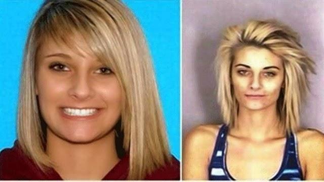 Polícia divulga antes e depois de ex-Miss usuária de drogas