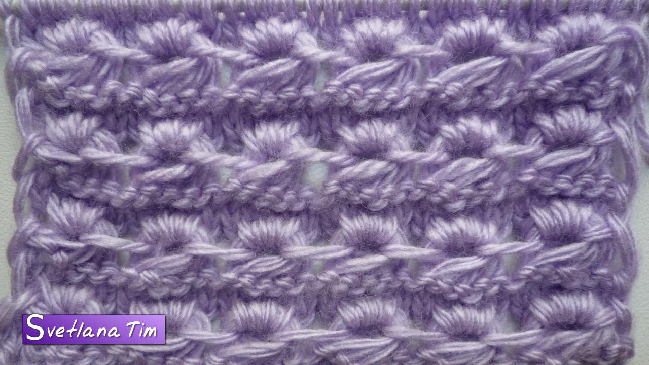 Описание вязания узора ежик