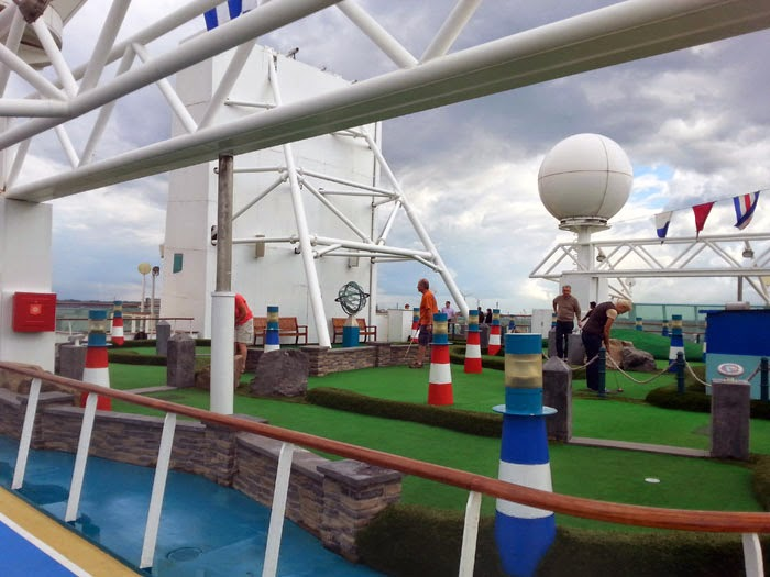 Minigolf course on Royal Caribbean's Legend of the Seas