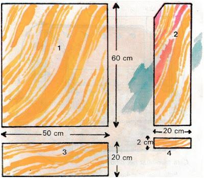 Pola dan ukuran tripleks rak dinding
