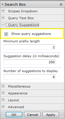 sharepoint 2010 search query suggestions not working