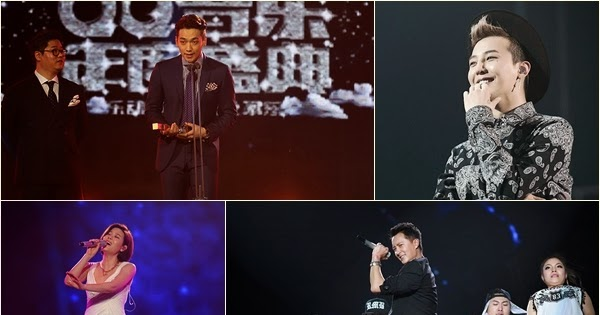 bigbang wins four awards chinas music