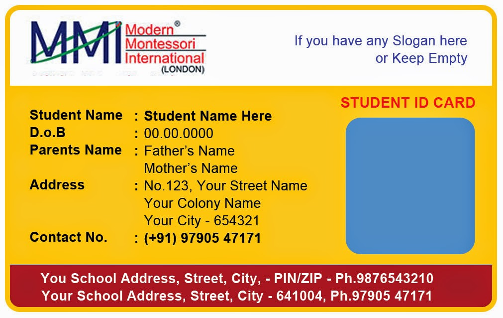 school id cards template