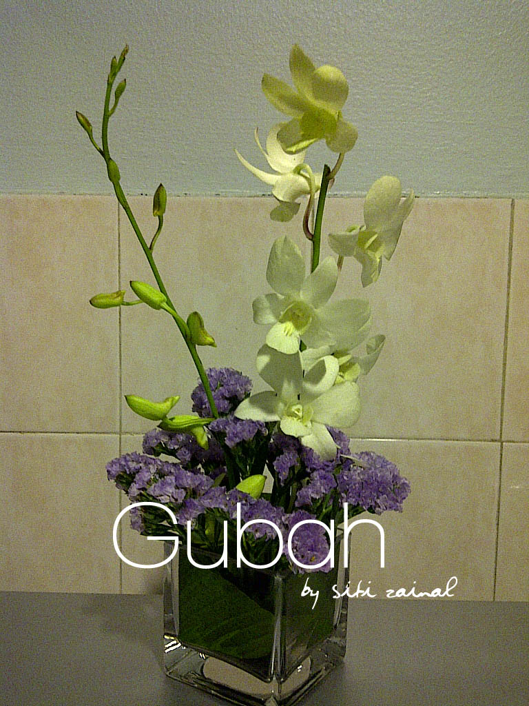 Gubah by siti zainal centerpiece samples forget me not
