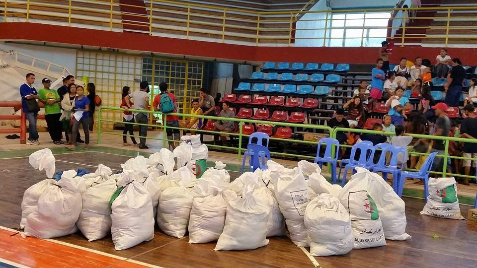 sacks of relief good for flood victims