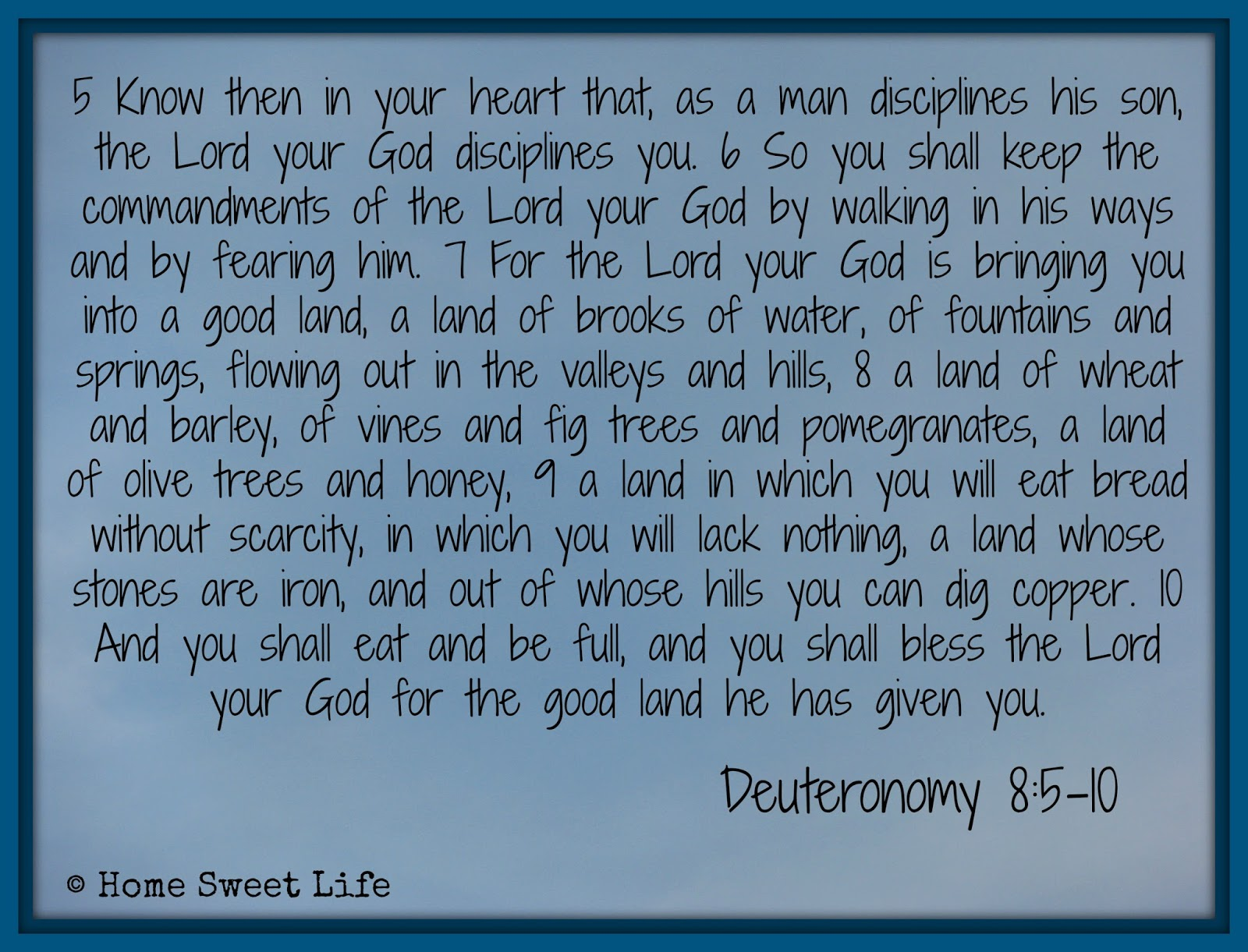 Deuteronomy 8, encouragement