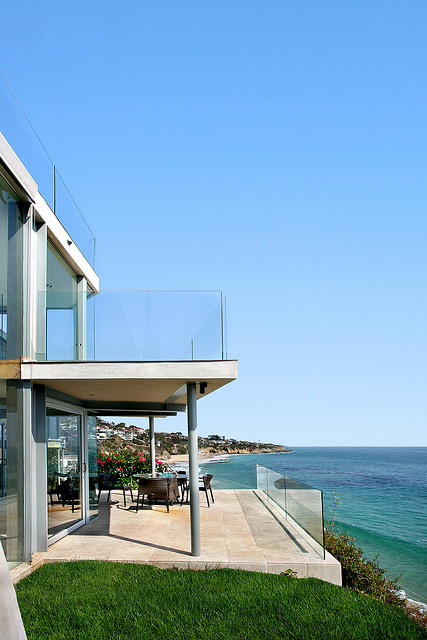 Photo of terrace overlooking the ocean