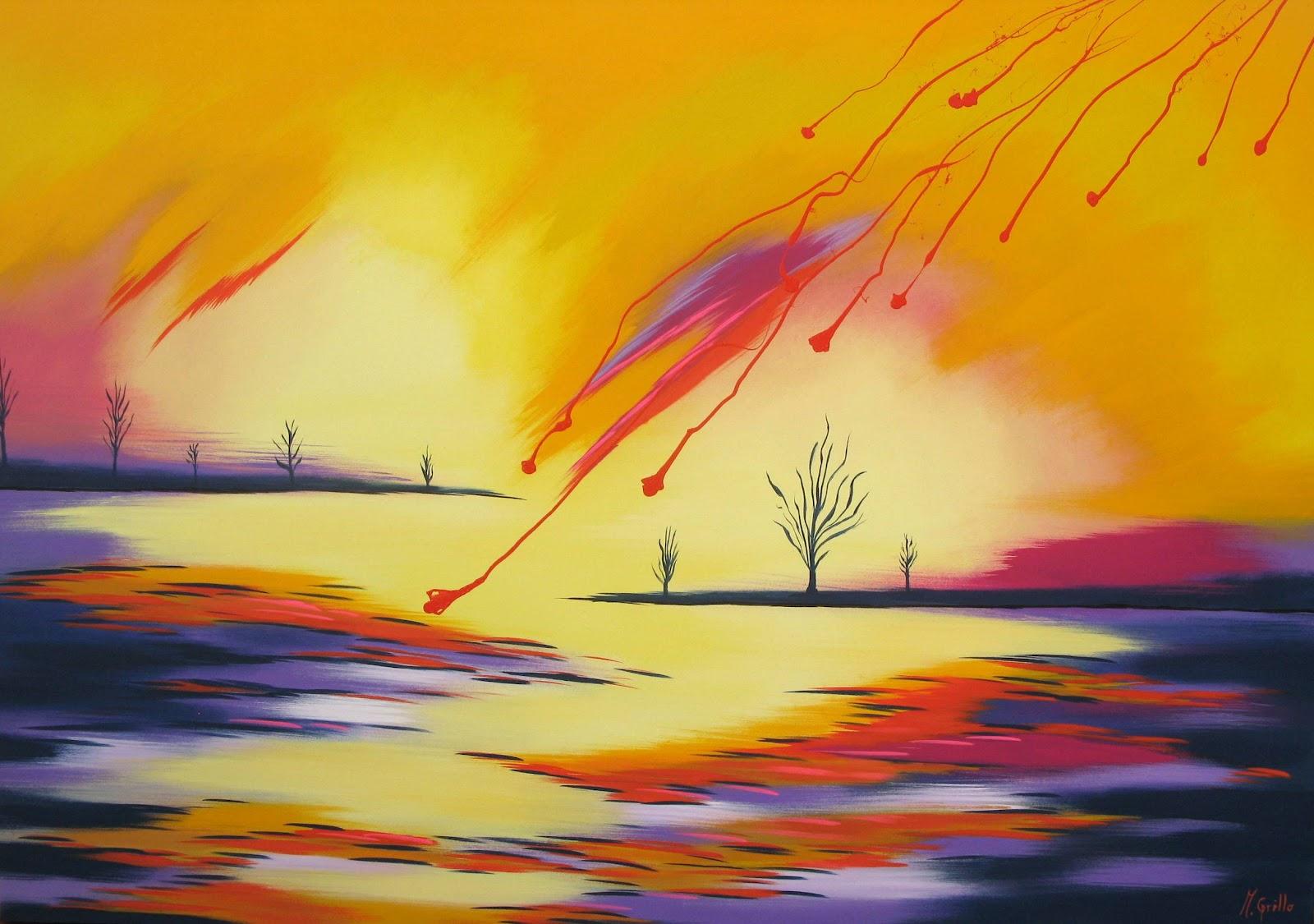 Im genes arte pinturas paisajes abstractos for Imagenes de cuadros abstractos faciles