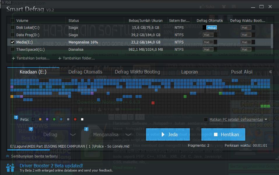 WatFile.com Download Free Haramain Software: IObit Smart Defrag 3 2 0 341 Terbaru