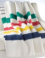 Hudson's Bay wool point stripe blanket