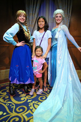 Anna and Elsa of Frozen at Magic Kingdom by Chad Soriano