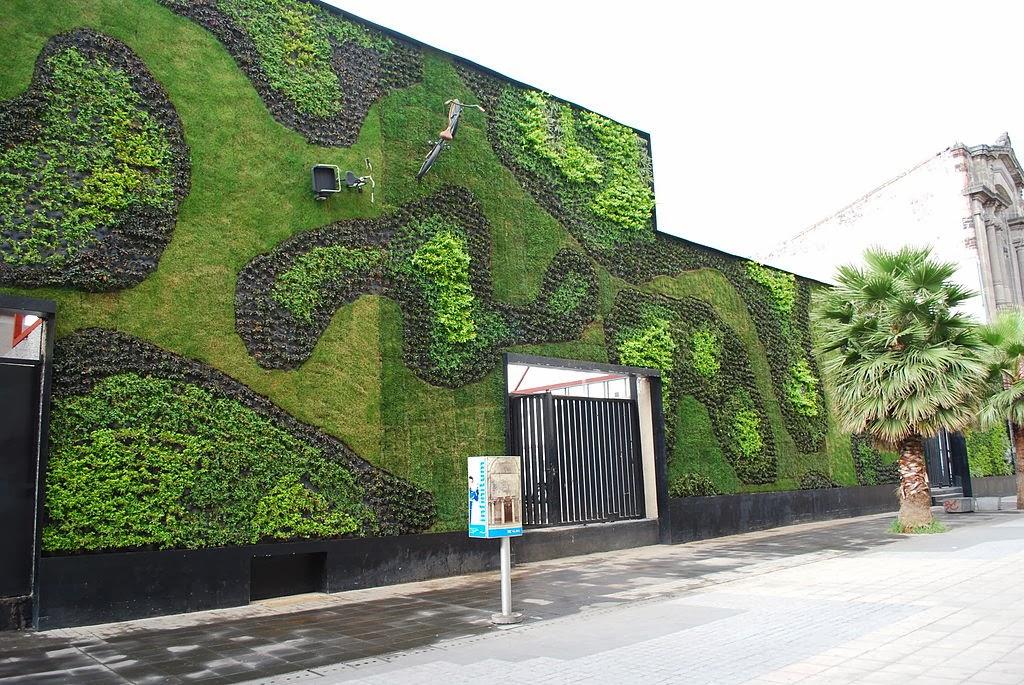 Plano y escala muros verdes o jardines verticales en for Jardines verticales introduccion