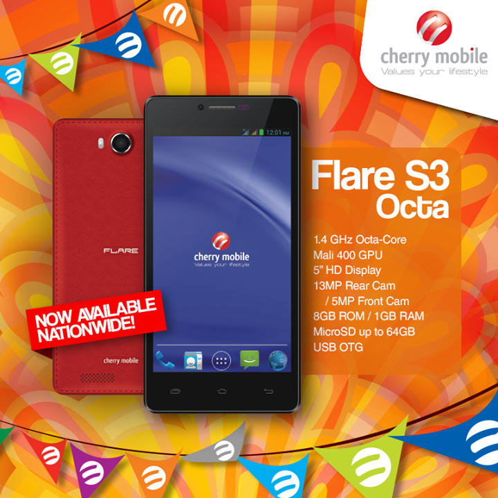 Cherry Mobile Flare S3 Octa now available nationwide