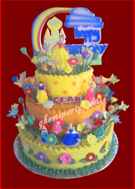 Disney Princess Birthday Cakes 3 Layer GHEMS Partyneeds Catering