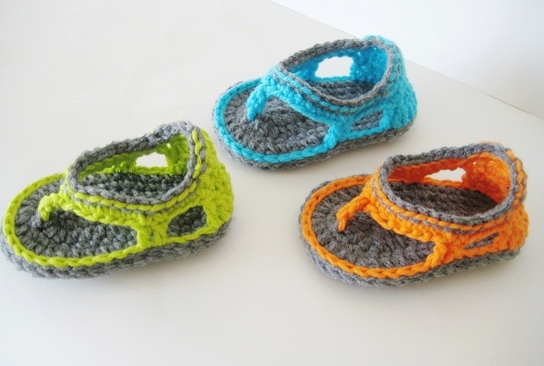 Trekkers Crochet Pattern Flip Flop Sandals For Baby Boys 012