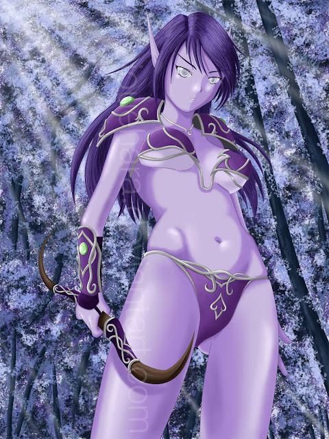 Night Elf - Warcraft por fabiouehara