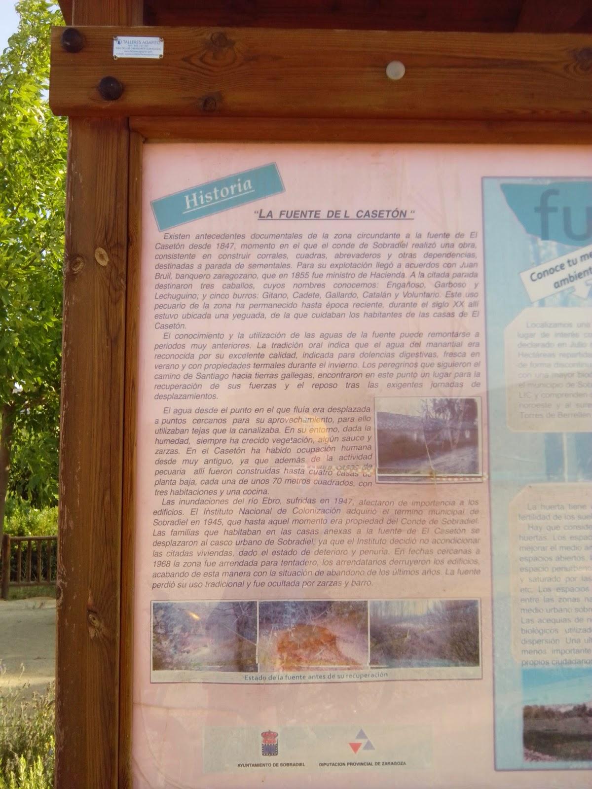 Cartel Fuente del Casetón