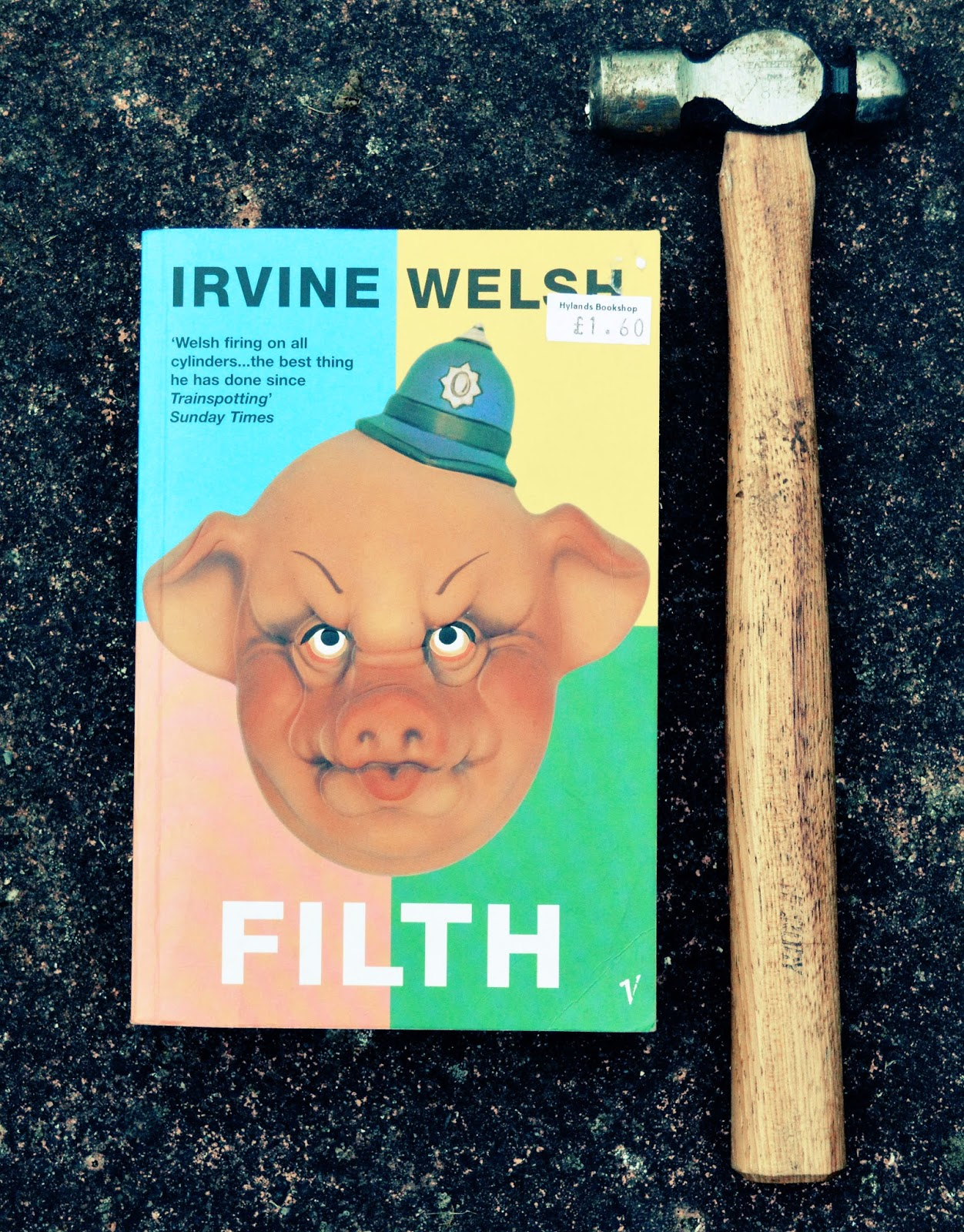 spoilers, synopsis, Irvine Welsh, Filth, review, book, Scottish Literature, experimental, contemporary, modern, racist, un-pc, crime, police, book cover, paperback, photo, photograph