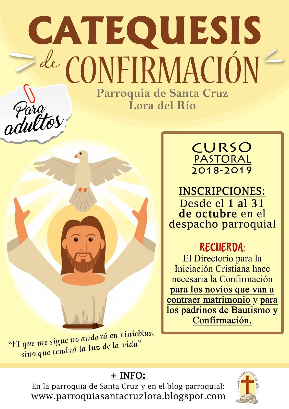 CATEQUESIS DE CONFIRMACIÓN PARA ADULTOS