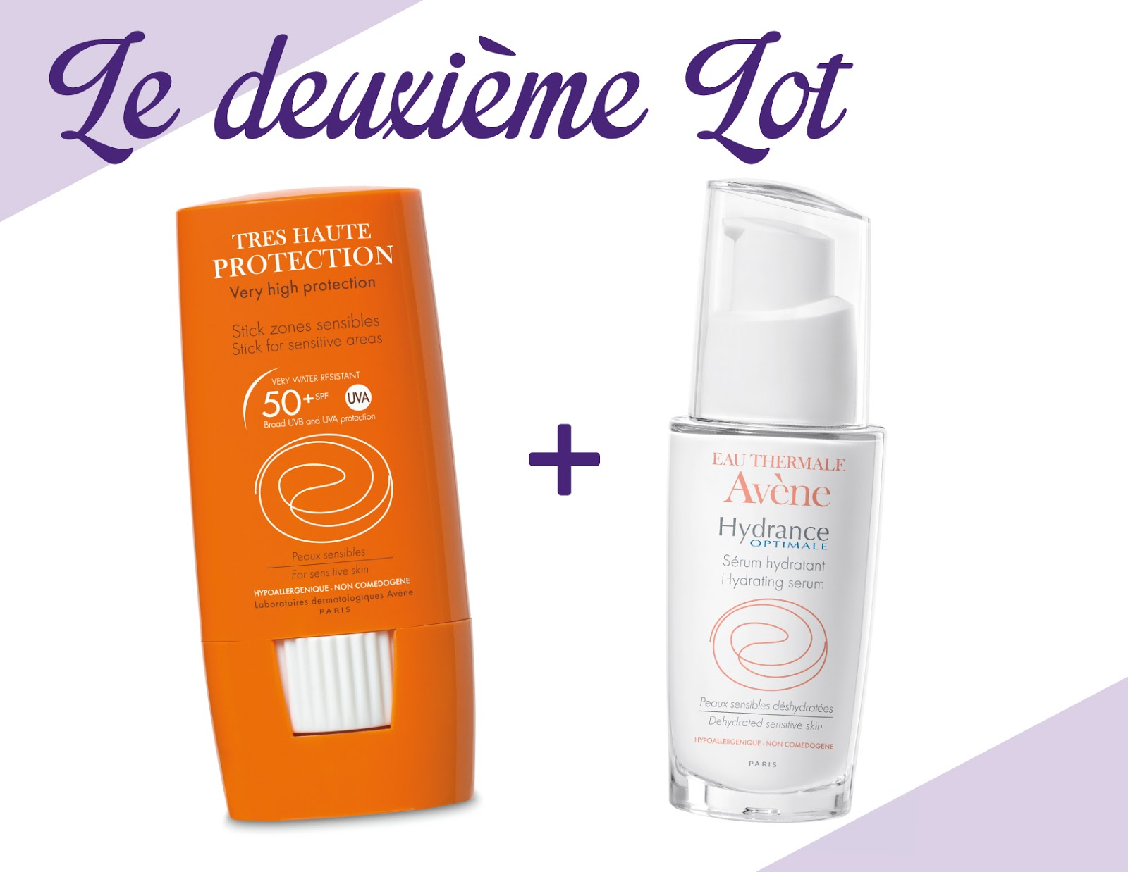 stick solaire zone sensible SPF 50 et sérum Hydrance Optimale