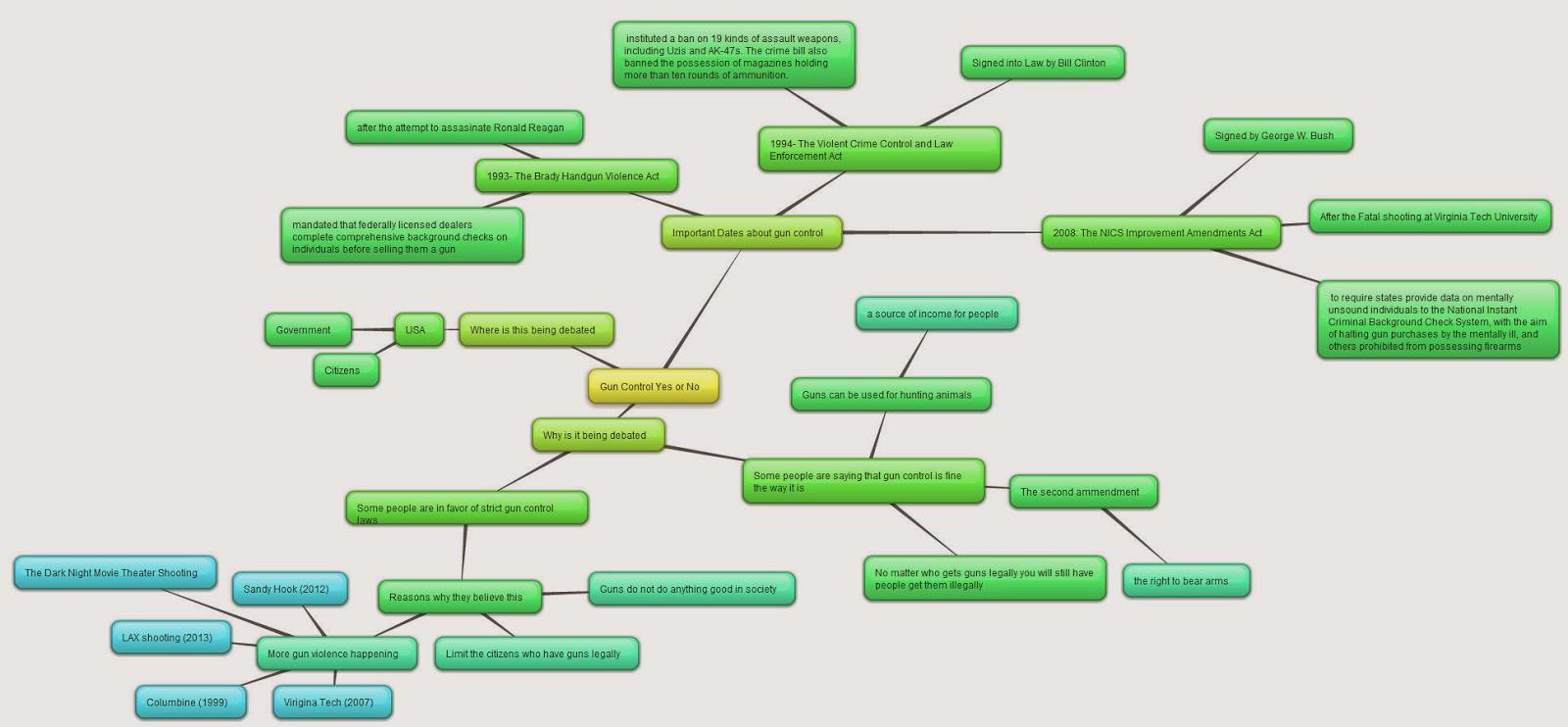 post 3 concept map on gun control