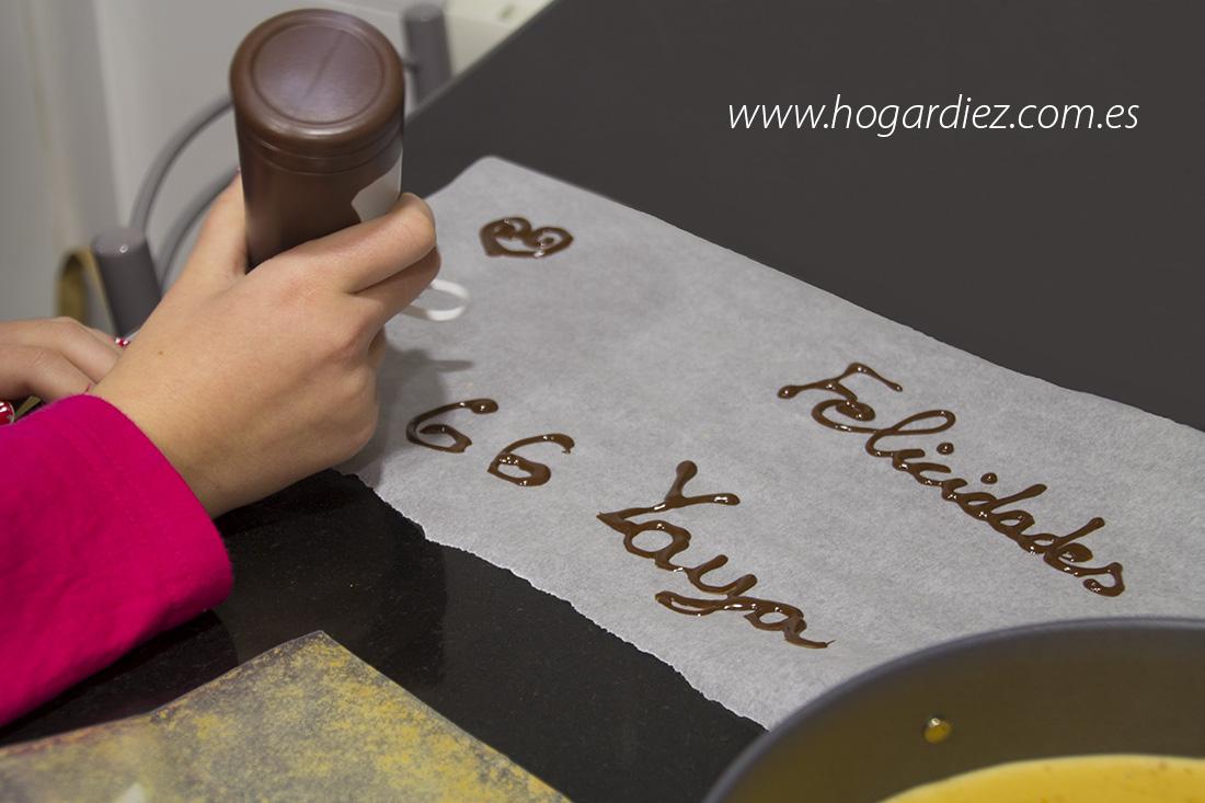 Cómo dibujar con chocolate