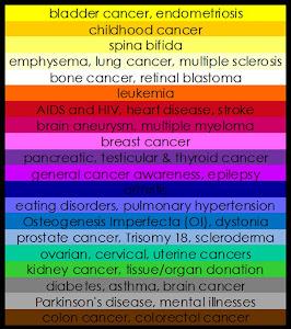 Awareness Ribbon Colors...